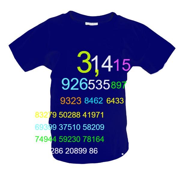 64e0ad27925 Tričko s potiskem Konstanta Pí (dětské)